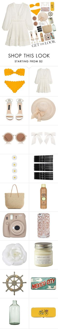 """S W I M"" by aesthetic-smiles ❤ liked on Polyvore featuring Marysia Swim, Zimmermann, Forever New, House of Holland, Monsoon, Monki, Target, Sun Bum, Nanette Lepore and Chanel"