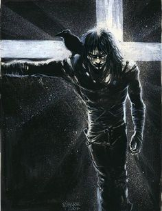 Lovelovelovelove♥♥♥♥ The Crow by James O'Barr The Crow, Brandon Lee, Bruce Lee, Crow Movie, Crow Art, Comic Character, Character Reference, Comic Artist, Bat Wings