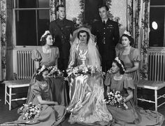 "Countess Mountbatten of Burma""s wedding. Princess Elizabeth and Princess Margaret were bridesmaids at the late Countess' wedding in 1946)"
