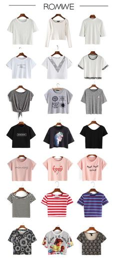 Basic pieces for women - Crop Tops for summer. White crop tops is must-have, black crop top is fashion for street style. And others are cute for teens or schools. Start from US$5.99.