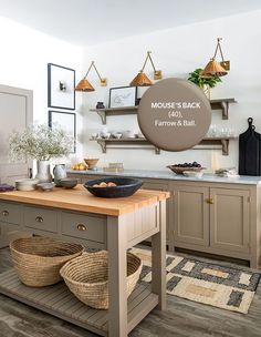 Mouse's Back | Photographer: Robin Stubbert | Designer: Wills & Prior Kitchen Paint, Kitchen Tiles, Kitchen Design, Top Paint Colors, Paint Colors For Home, Kitchen Color Trends, Kitchen Colors, Farrow Ball, Home Decor Trends