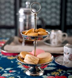 """THE PETITE SALVER """"Love & scandal are the best sweetners of #tea"""" Henry Felding. For the woman for whom #chai is a daily celebration and a private ritual of style. A two-tiered tray that is dainty as all it holds. Available across all Good Earth shops. #GiftIdeas #CelebrateLove"""