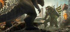 Godzilla vs Gigan by NoBackstreetboys on deviantART