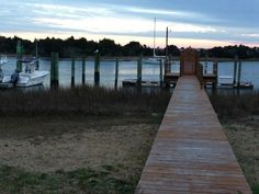 One of the many private docks along the waterfront in Beaufort, North Carolina. (Photo by Betsy Cartier)
