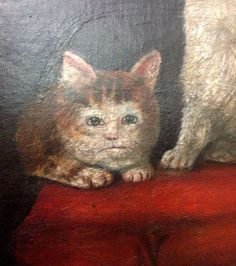 While medieval artists excelled at painting religious scenes, portraits of royalty and naked ladies, cats offered an altogether different challenge. It looks like the medieval painters never laid eyes on a cat. Medieval Paintings, Renaissance Paintings, Funny Cat Videos, Funny Cat Pictures, Cat Club, Ugly Cat, Funny Cats And Dogs, Bad Cats, Like A Cat