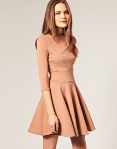 b9d9f68f7f1 ASOS Ponti Fit and Flare Dress at asos.com