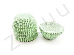 150 pirottini tondi a rombi bianchi e verdi con base 30mm #pirottini #ZiZuu