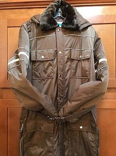 Sears Work & Leisure Brown Snowmobile Snow Suit Winter Coveralls Big Tall Sz 40
