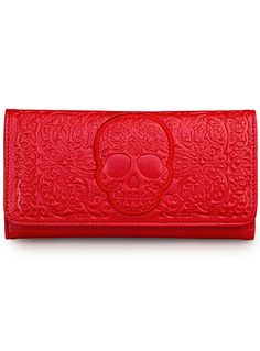 de Cartera disponible calavera color el filigrana de bolso en espantosa carmesí en B858wRErxq