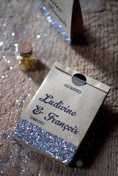 DIY Glittering Kraft favor - Comment créer un sac craft avec une simple feuille