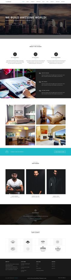 GLAMOUR is powerful multi page and one page #Drupal Theme for multipurpose #website with 60+ stunning homepage layouts. #architecture Download Now!