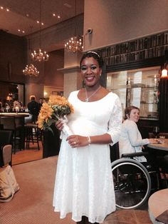"""""""Married at 34 weeks pregnant. Freya dress was perfect!""""  Get the Look: Freya Lace Dress in Ivory"""