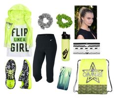 """Neon Gymnast"" by stylelover-650 ❤ liked on Polyvore featuring NIKE"