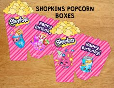 Shopkins Popcorn Boxes by MunchManCreations on Etsy