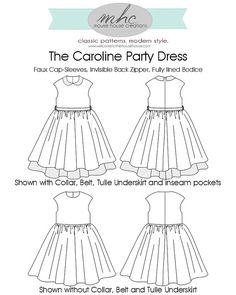 Le modèle de robe Caroline partie PDF par MouseHouseCreations