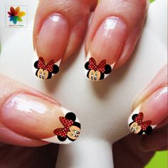 Valentine Day, Disney nail art, cartoon, mickey mouse, 100 Waterslide stickers Decal Nail, nails crystal clear background on Etsy, £4.33