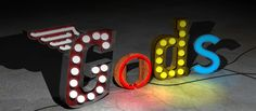 Chris Bracey Art Gods Own Junkyard Circus lights ect Places To Visit Uk, Neon Words, Vintage Neon Signs, Lights Artist, Light Letters, Bar Signs, Neon Lighting, Graphic Design Art, Light Art