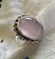 Quartz Jewelry, Gemstone Jewelry, Boho Chic, Rose Quartz Ring, Stylish Rings, Valentines Jewelry, Feather Necklaces, Gypsy Jewelry, Victorian Jewelry