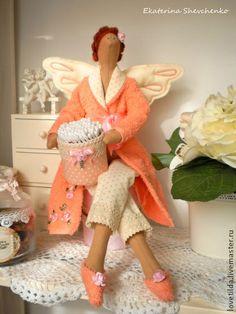 """Куклы Тильды ручной работы. Ярмарка Мастеров - ручная работа Тильда - Банный ангел """"Orange"""" (Фея-хранительница ваных палочек). Handmade."""