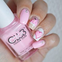 nail designs coffinnail designs for short nails step by step essie nail stickers nail art sticker stencils best nail polish strips 2019 Heart Nail Designs, Pretty Nail Designs, Nail Art Designs, Nails Design, Cake Designs, Birthday Nail Designs, Birthday Nail Art, Birthday Design, Birthday Quotes
