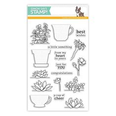 Simon Says Clear Stamps CUPS AND SUCCULENTS sss101483 at Simon Says STAMP!
