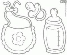 Fabric painting Baby Bottle Coloring Pages Printables sketch template Cupcake Coloring Pages, Baby Coloring Pages, Free Adult Coloring Pages, Coloring Books, Baby Boy Scrapbook, Scrapbook Bebe, Baby Shawer, 2nd Baby, Cricut Baby Shower