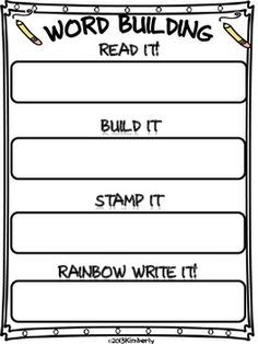 FREEBIE-Word Building Activity