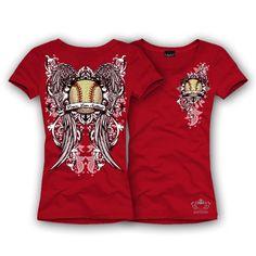 Katydid Peace, Love, Softball Women's T-Shirt