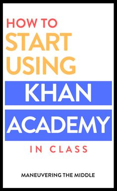Getting Started with Khan Academy in the Classroom Getting Started with Khan Academy in the Classroom,Math Websites and Apps Tips for using Khan Academy effectively and efficiently! Plus, ideas for using it to differentiate. Middle School Teachers, I School, School Stuff, School Ideas, Kindergarten Homeschool Curriculum, Math Websites, Quotes About Haters, Sticker Chart