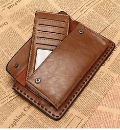 Men Leather Jeep Clutch Wallet Bag Long Purse Leather Iphone 6 6s