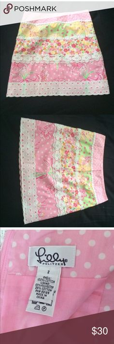 Lilly Pulitzer Vintage Floral Skirt Beautiful vintage Lilly skirt! Great condition. White label. Lilly Pulitzer Skirts