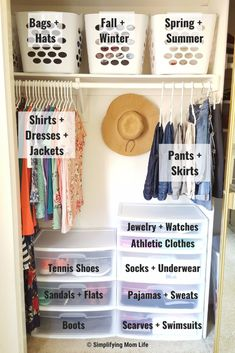 Organize a Small Closet on a Budget in 5 Simple Steps - - Streamline your start to the day by taming your closet! Here are 5 simple steps to organize a small closet on a budget - even if you live in a rental!
