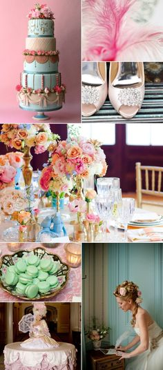 Maria Antoinette Themed Wedding. So glamour and romantic on blog Little White Book
