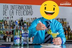 La Felicidad no es hacer lo que uno quiere sino querer lo que uno hace #DíaInternacionalDeLaFelicidad  Certifícate Bartender Profesional  Formamos Líderes Bartenders Quieres más información? Envíanos tu email