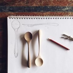 Enjoyed working on some new, simple eating spoons today. These feel great to hold and feed with