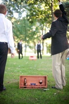 Chicago Park Wedding with Purple Accents Wedding Activities, Wedding Games, Park Weddings, Real Weddings, Wedding Blog, Diy Wedding, Wedding Ideas, Cornhole Set, Cornhole Boards