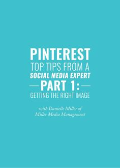 Today I'm sharing the stage with the amazing Danielle Miller of Miller Media Management. She's here for the next three weeks to answer my biggest Pinterest questions! Today, we're going to talk about getting optimal images and how to set yourself up for success!