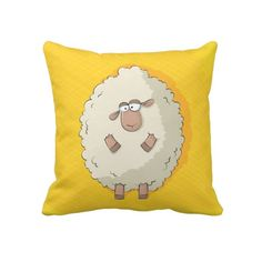 Illustration of a cute and funny giant sheep pillows $67.95
