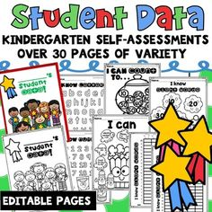 Student Data Binder Kindergarten These are simple tracking forms, easy to use student self-assessment data binder that has a lot of variety for you to choose from or simple templates for you to edit and create your own self-assessments for your students. Student Binder Covers, Student Data Binders, Student Data Tracking, Data Folders, Student Self Assessment, Kindergarten Assessment, Kindergarten Classroom, Kindergarten Activities, Classroom Ideas