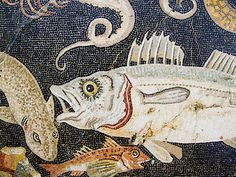 Marine mosaic detail, from a house in Pompeii (2nd century BC) | Flickr - Photo Sharing!