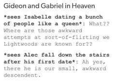 awww, alec's so cute! and i'm glad he's finally grown into his skin (tales of a shadowhunter academy)