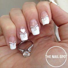 What Christmas manicure to choose for a festive mood - My Nails Trendy Nails, Cute Nails, My Nails, New Nail Designs, French Nail Designs, Nail Spot, French Manicure Nails, Bridal Nail Art, Valentine Nail Art