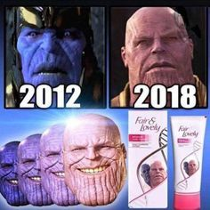 Sponsored by thanos <<< Chill it's just the lighting, the right is how he looks like in warm light/filter