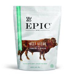EPIC Beef Cranberry & Sriracha Bites  #eatepic #epicfoodrevolution #jerky #steak #paleo #whole30