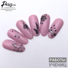 Este posibil ca imaginea să conţină: 1 persoană Daisy Nail Art, Daisy Nails, Flower Nail Art, Pink Gel Nails, My Nails, Hair And Nails, Flower Nail Designs, Nail Art Designs, Nail Art Techniques