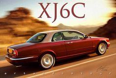 A proposed reinterpretation of the classic Jaguar complete with vinyl roof. Jaguar Xjc, Jaguar E Type, Jaguar Cars, Jaguar Daimler, Bentley Car, Xjr, Jaguar Land Rover, Cars Uk, Automobile