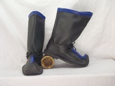 Mongolian Boots SCA Leather Historical by risingsunleather on Etsy, $150.00