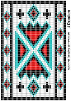 Free+Native+American+Beadwork+Patterns | Belt bead pattern for ...