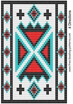 Free+Native+American+Beadwork+Patterns | Belt bead pattern for ...