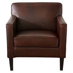 Cooper Upholstered Armchair - Espresso Bonded Leather